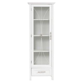 Veranda Bay White Linen Storage Bathroom Cabinets