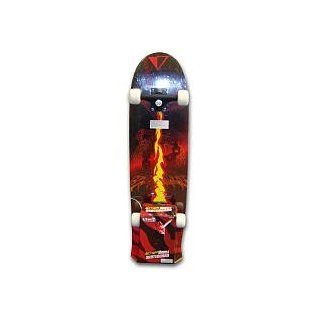 Action Wheels 28 inch Skateboard   Flaming Chain: Sports & Outdoors