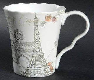 222 Fifth (PTS) Lissome Mug, Fine China Dinnerware   Cafe Latte Mug