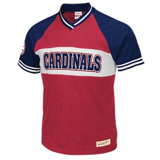 Mitchell & Ness MLB Substitution V Neck T Shirt   Mens   Baseball   Clothing   St. Louis Cardinals   Red