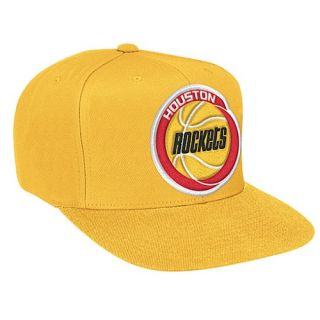 Mitchell & Ness NBA Solid Snapback   Mens   Basketball   Accessories   Houston Rockets   Gold