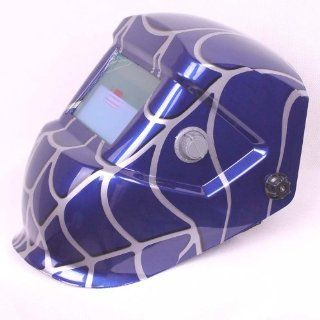 New Blue Spider Man Hood Welding Helmet Auto Darkening Mig Tig Arc Mask MZ0020: Home Improvement