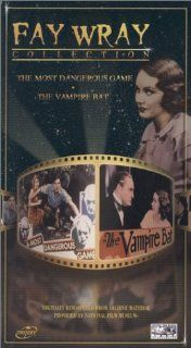 Fay Wray Collection   The Most Dangerous Game/The Vampire Bat [VHS]: Joel McCrea, Fay Wray, Leslie Banks, Robert Armstrong, Noble Johnson, Steve Clemente, William B. Davidson, Oscar 'Dutch' Hendrian, Buster Crabbe, James Flavin, Arnold Gray, Hale H