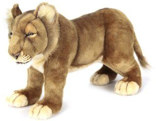 Hansa Life Size Lion Cub Stuffed Plush Animal, Standing: Toys & Games