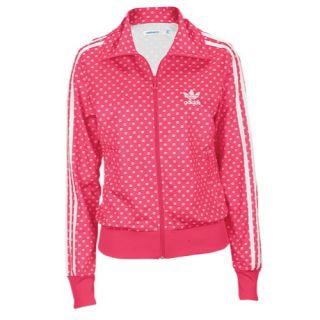 adidas Originals Firebird Track Jacket   Womens   Casual   Clothing   Light Maroon/Tech Gold/Ultra Pop