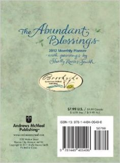 The Abundant Blessings: 2012 Monthly Pocket Planner: Shelly Reeves Smith: 9781449405496: Books