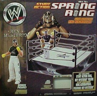 WWE Stunt Action Spring Ring and Rey Mysterio Action Figure: Toys & Games