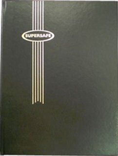 "Stamp Album Stockbook by Supersafe 9"" x 12"" B 4/16 Black Stamp Album Toys & Games"