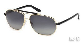 Tom Ford ADRIAN FT0243 Sunglasses TF243 Color 28D Shiny Gold / Smoke Polarized TF 243: Health & Personal Care