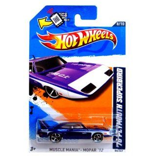 Hot Wheels   '70 Plymouth Superbird (Purple w/White Stripes)   Muscle Mania, Mopar 12   8/10 ~ 88/247 [Scale 1:64]: Toys & Games
