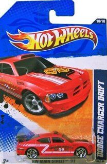 2011 Hot Wheels [Red Watkins Glen Fire Department] DODGE CHARGER DRIFT CAR #170/244, HW Main Street #10/10, 1:64 scale: Toys & Games