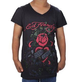Ed Hardy Racer Tank Top for Girls   Pink: Clothing