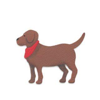 Demdaco   Embellish Your Story   Brown Dog Magnet   Refrigerator Magnets