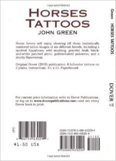 Horses Tattoos (Dover Tattoos): John Green: 9780486430294: Books