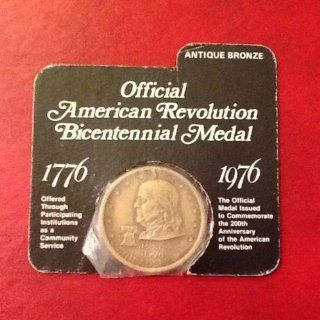 RARE Official American Revolution Bicentennial Medal, Antique Bronze, Benjamin Franklin: Everything Else
