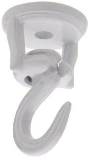 National Hardware N249 607  2 Inch Swivel Swag Hook, White: Home Improvement