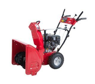 Powerland PDST24E 2 Stage Gas Snow Blower, 24 Inch Patio, Lawn & Garden