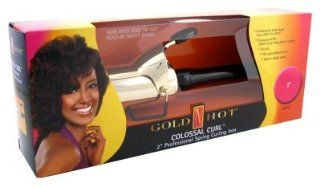 Gold 'N Hot 24K Coated Professional Spring Iron, 2 Inch : Curling Irons : Beauty