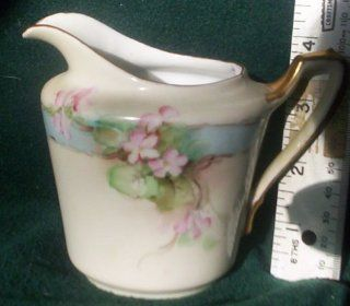 German Hand Painted KPM Porcelain China Creamer: Everything Else