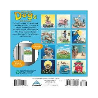 2012 Gary Patterson's Dogs Magnetic Mini calendar Perfect Timing   Avalanche 9781606777923 Books