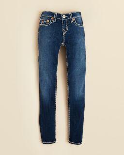 True Religion Girls' Light Wash Julie Skinny Jeans   Sizes 7 14's