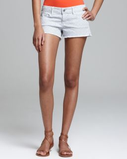 AG Adriano Goldschmied Shorts   Daisy Low Rise in Basket Weave Grey's