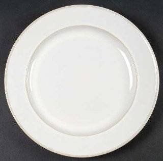 Food Network China Fontina White Dinner Plate, Fine China Dinnerware: Kitchen & Dining