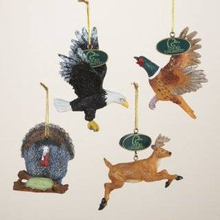 """Club Pack of 12 Ducks Unlimited Wild Animal Bird and Deer Christmas Ornaments 5""""  Decorative Hanging Ornaments"""