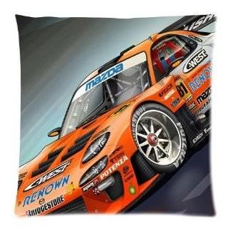 Pillowcase Custom Cushion Covers Case 1 Side Auto Racing Car 18x18 D294 02