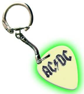 AC/DC Glow In The Dark Premium Guitar Pick Keyring Musical Instruments
