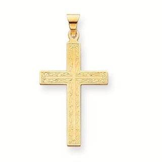 14k Solid Cross Pendant   Gold Jewelry: Reeve and Knight: Jewelry