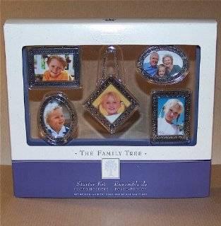 Hallmark Family Tree Silver Starter Kit Set of 5   Decorative Hanging Ornaments