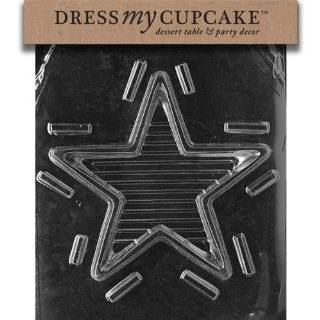 Dress My Cupcake DMCC307BSET Chocolate Candy Mold, Large Star Pour Box Bottom, Set of 6 Kitchen & Dining
