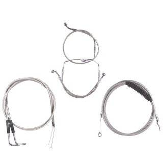 Hill Country Customs Basic Stainless Cable Brake Line Kit for Stock Height Handlebars 2007 Harley Davidson Touring Models no Cruise HC CKB11200 SS Automotive