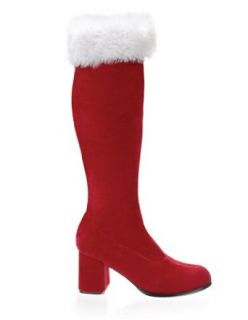 Red Velvet Holiday Retro Gogo Boot   8: Clothing