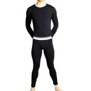 Men's Fashion Fashion Men's Thermal Underwear, Doublet+johns, Long Johns, Black Men's Winter Underwear (Black)