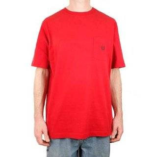 Chaps Mens T Shirt 11765R 600 Red XL Red Crew Chest Pocket with Logo Clothing
