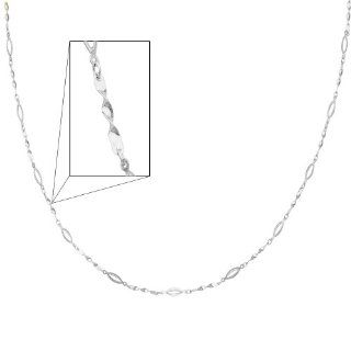 """14K White Gold Fancy Designer Necklace   17"""" + 1"""" Extension: Reeve and Knight: Jewelry"""