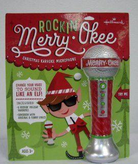 Hallmark Christmas MJC3242 Rockin' Merry Okee   Christmas Karoke Microphone: Everything Else