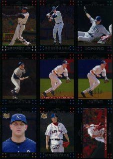2007 Topps Chrome Baseball Complete Mint Hand Collated 330 Card Basic Series Set. This Set Is Loaded with Stars and Rookies Including Mickey Mantle, Derek Jeter, Alex Rodriguez, Mike Piazza, Albert Pujols, Greg Maddux, David Wright, Roger Clemens, Frank Th