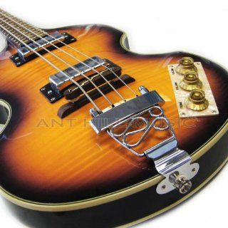 New Pro Flame Maple Top Viola Violin Beatle Bass Guitar Musical Instruments