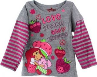 Strawberry Shortcake Baby girls Love Peace & Kittens Long Sleeve Shirt Clothing