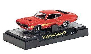 Ford Torino GT 351, redorange , 1970, Model Car, Ready made, M2 Machines 1:64: M2 Machines: Toys & Games