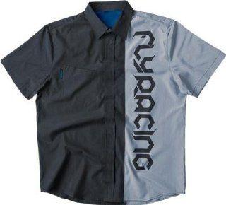 Fly Racing Pit Shirt , Distinct Name Black/Gray, Primary Color Black, Size Lg, Gender Mens/Unisex 352 6120L Automotive
