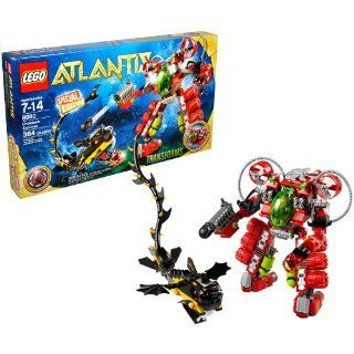 Lego Atlantis Series Special Edition Set # 8080   UNDERSEA EXPLORER that Transforms with Torpedo Launcher and Grappling Arm Plus Red Atlantis Treasure Key, Sea Serpent and Diver Minifigure (Total Pieces: 364): Toys & Games