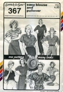 Stretch & Sew Pattern 367 ~ Easy Blouse & Pullover ~ Bust 30 46