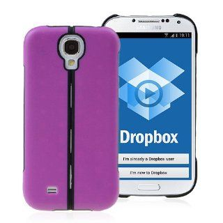 Premium Hard Protective Purple Cover Case with Folding Stand for Samsung Galaxy S4 SIV I9500 Electronics