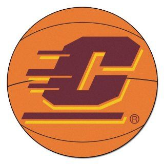 FANMATS NCAA Central Michigan University Chippewas Nylon Face Basketball Rug: Automotive