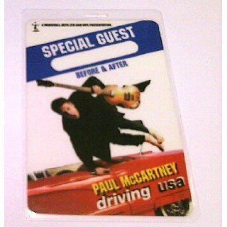 2002 Paul Mccartney Beatles Laminated Backstage Pass Special Guest Collectibles & Fine Art