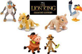 Exclusive The Lion King Plush Stuffed Animal Toy Doll Set Featuring Simba, Nala, Rafiki, Pumbaa, Timon and Zazu Toys & Games